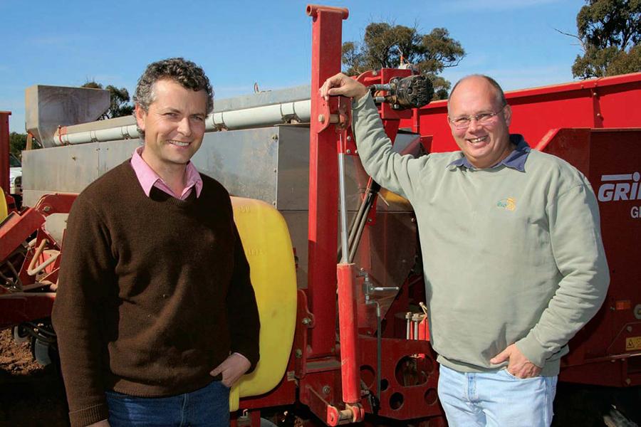 Anton Barton of BioAg pictured here with Jason Menegazzo