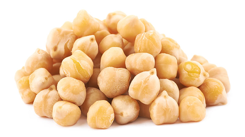 chickpeas isolated on a white background
