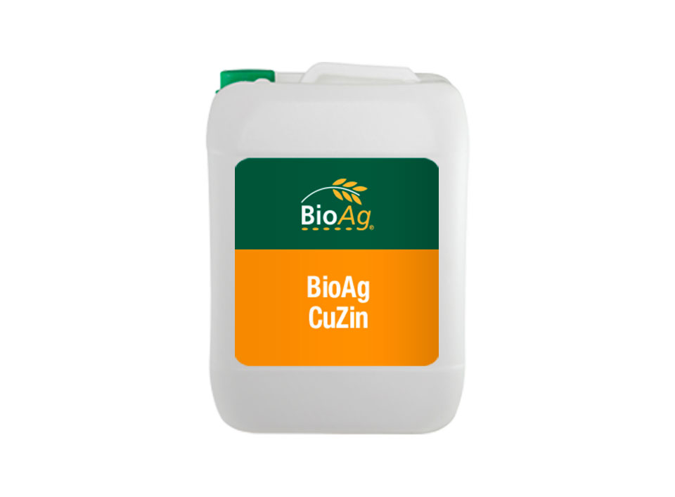 BioAg liquid fertiliser product CuZin