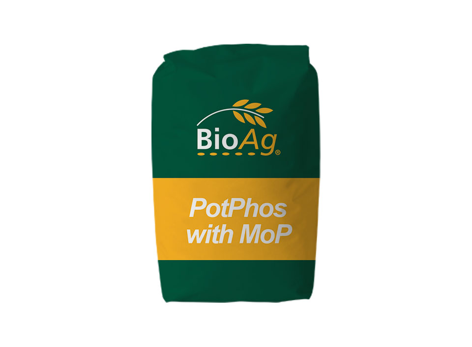 BioAg product shot of PotPhos with MoP