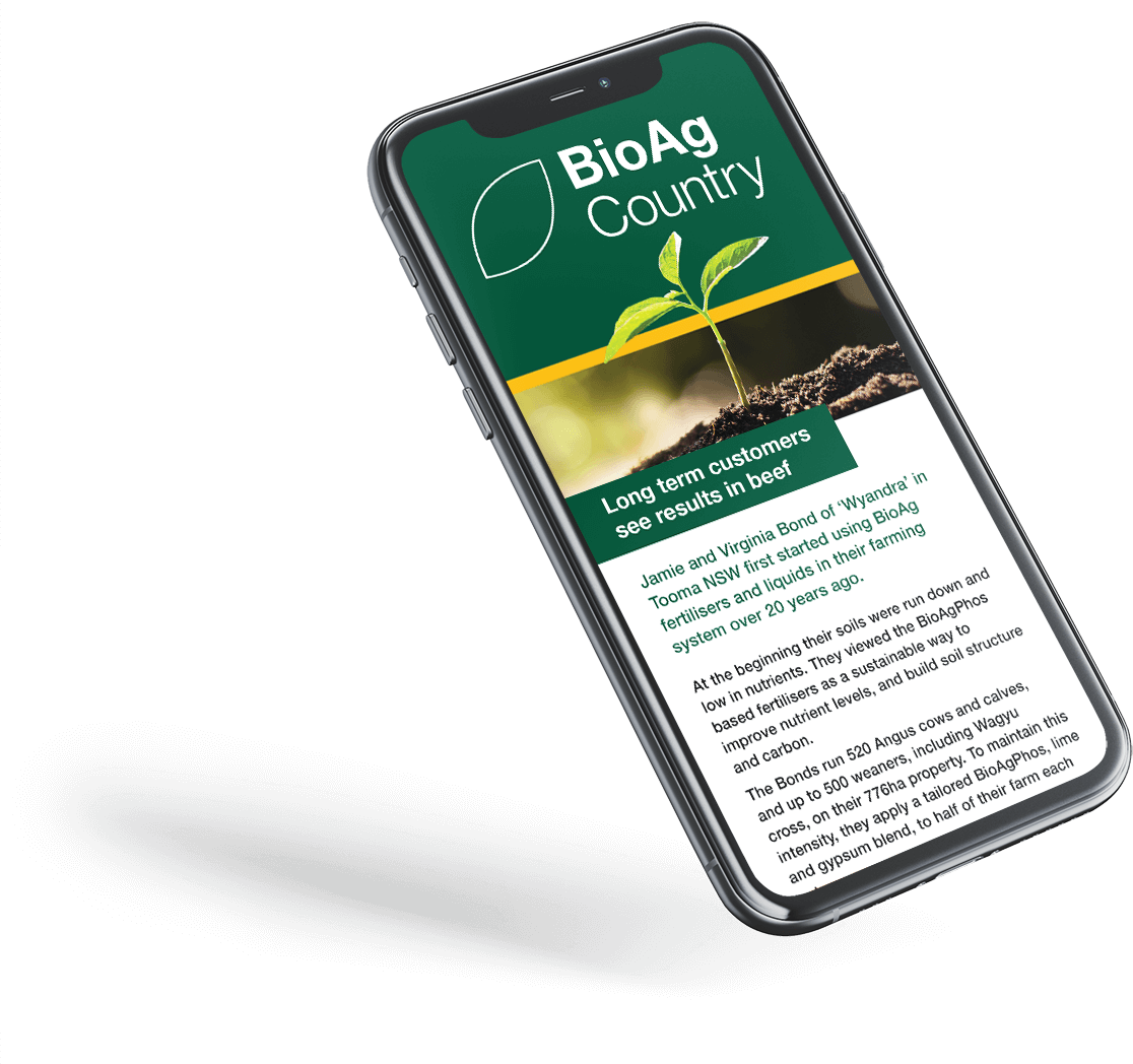 Sign up to the BioAg Newsletter